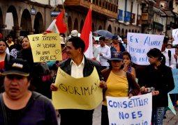 Marcha en Cusco