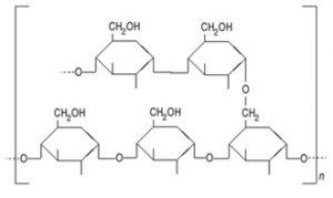 Estructura del almidón, fórmula desarrollada