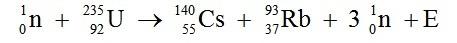 Ecuación de Reacción Nuclear.