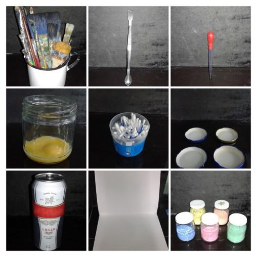 Materiales para Experiencia de Pintura al Huevo.