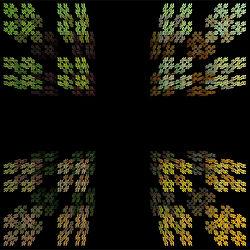Polvo de cantor, modelo de fractales.