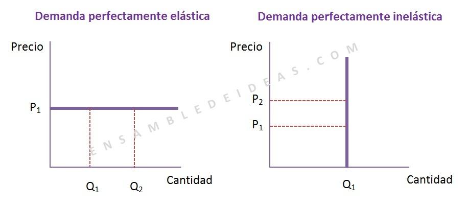 Elasticidad perfectamente elastica Elasticidad perfectamente inelastica  elasticidad de la demanda