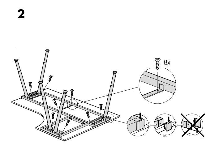 Assembling an IKEA desk (part 2)