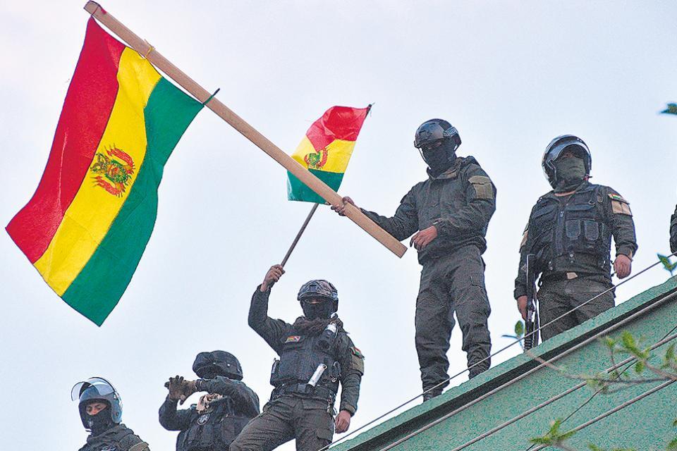 Un desafío policial para Evo