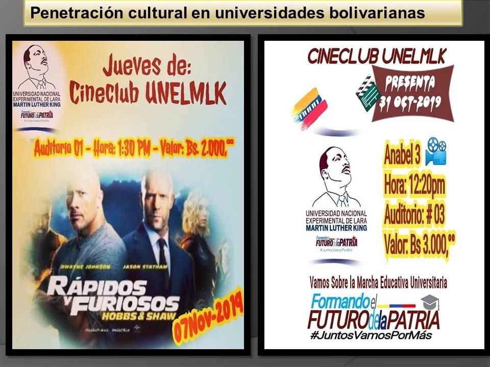 Ideología imperialista penetra en universidad bolivariana