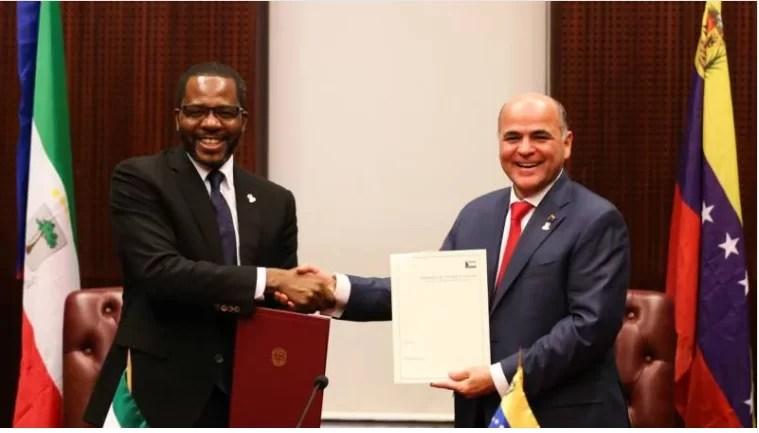 Venezuela y Guinea Ecuatorial afianzan relaciones estratégicas