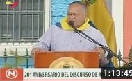 Vea el Discurso pronunciado por Diosdado Cabello Rondón con motivo de la Conmemoración de los 201 años del Discurso y Congreso de Angostura (+Video)