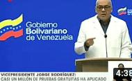 Vea las declaraciones de Jorge Rodríguez referidas a la implementación del Plan 5+10 de flexibilización de la cuarentena a implementarse a partir de mañana 01 de Junio de 2020 (+Video)