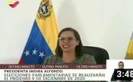 6 de diciembre serán las elecciones legislativas en Venezuela: Presidenta del CNE publica cronograma (+Video)