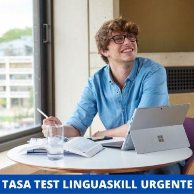 Tasa test Linguaskill urgente