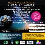 """Grand Seminar """" Membongkar Rahasia Ayat-ayat Sains Al-Qur'an Abad 22″"""