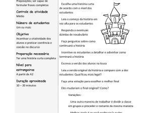 Fazemos jogos didáticos português para estrangeiros e neste o foco é vocabulário e a resposta rápida. Requer pouca preparação e serve pra qualquer nível.