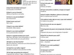 Texto fácil, traz um formato interessante para a escrita em português para estrangeiros: entrevista. Prepare para interpretar e fazer outra entrevista!