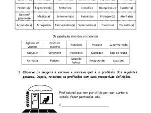 Essa é uma atividade de português para estrangeiros para imprimir que, com dois exercícios e gabarito, traz a prática de um tema básico: profissões.