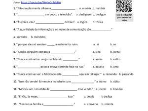vídeo curto para aulas de português para estrangeiros