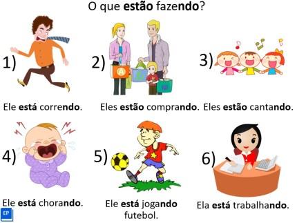Mais uma de nossas atividades com gerúndio em português, mas esta é voltada exclusivamente para aulas online.