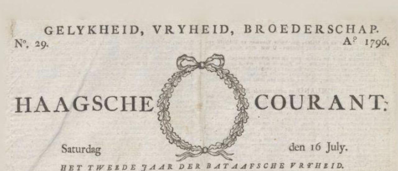 Courant Van Waarheid En Gezond Verstand 1795 1796 Encyclopedie Nederlandstalige Tijdschriften