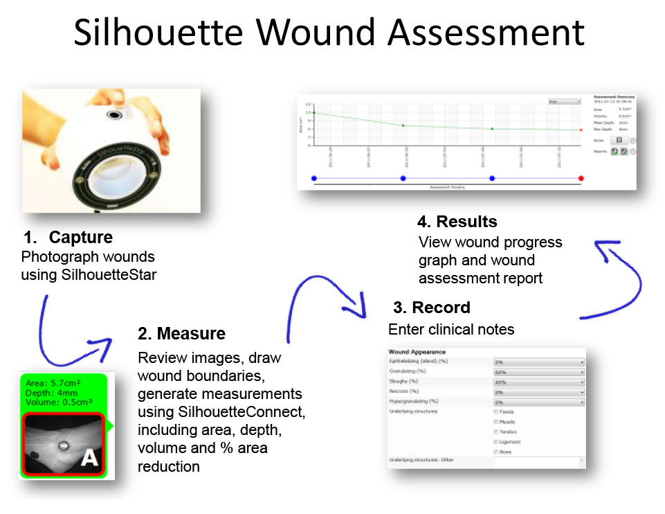wound assessment diagram asco 8210 wiring silhouette innovation how does work digital imaging measurement and notes at point of care