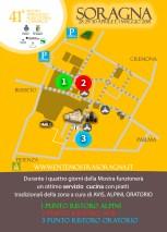La mappa dei punti ristoro