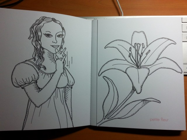 Des mains pour dire je t'aime - petite fleur rabat fermé