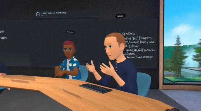 Mark Zuckerberg Horizon Workrooms