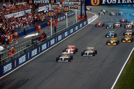 Start of the 1992 British Grand Prix.