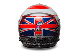 Jenson Button 2015 Crash Helmet - Rear View