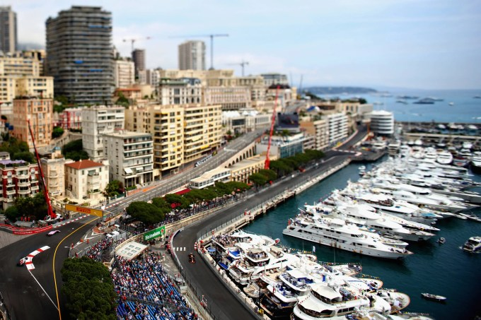 Monaco Harbour with Yachts