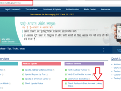 How To Check Aadhaar & Bank Account Linking Status