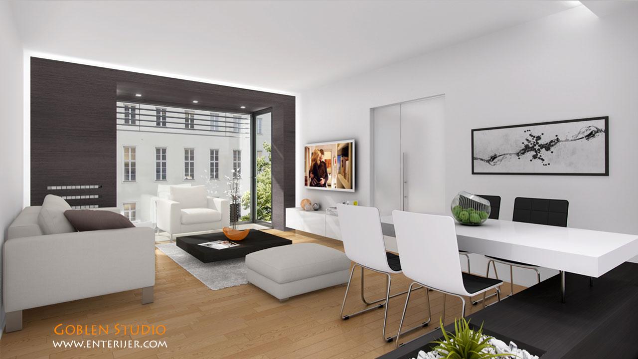 Modern koncept enterijera stana u centru grada