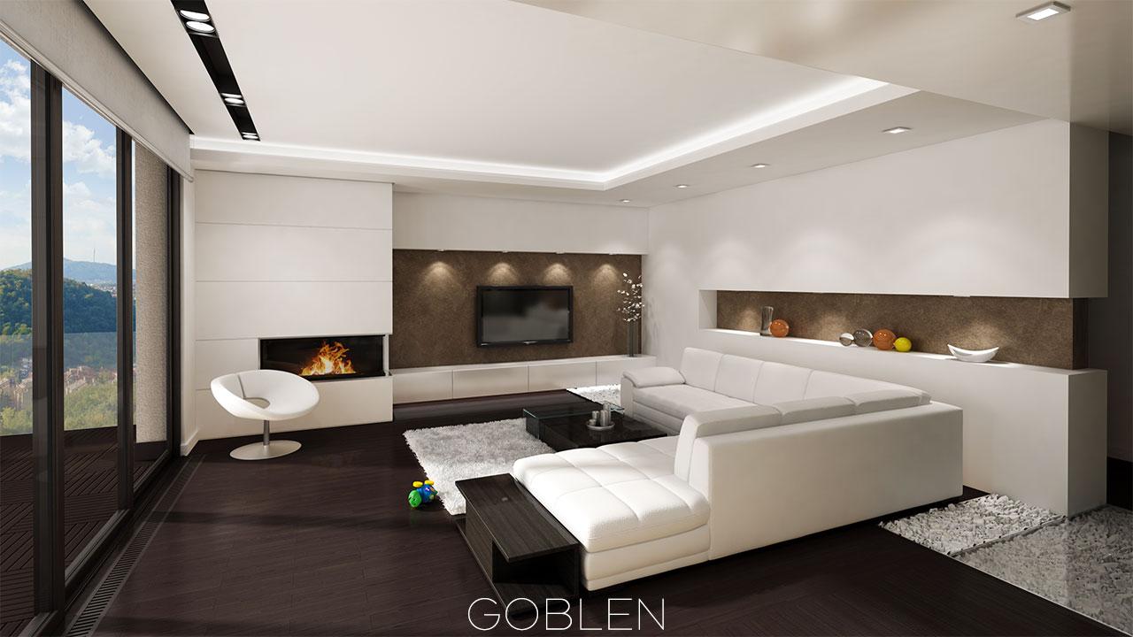Stan na Dedinju  Luksuzno opremljen u minimalistikom stilu