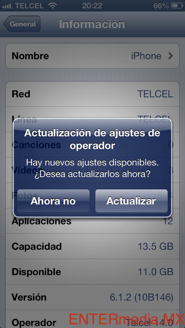 LTE en TELCEL iPhone 5