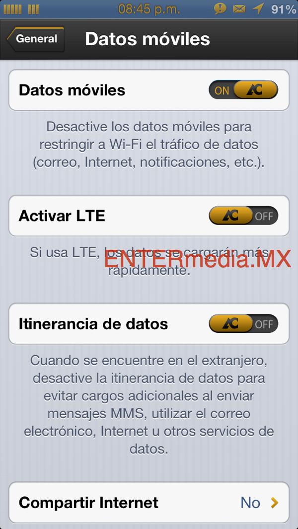 iPhone LTE telcel