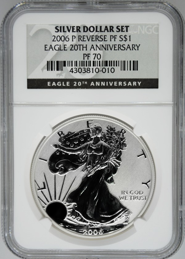 2006- Ngc Pf70 Ultra Cameo Reverse Proof Silver Eagle