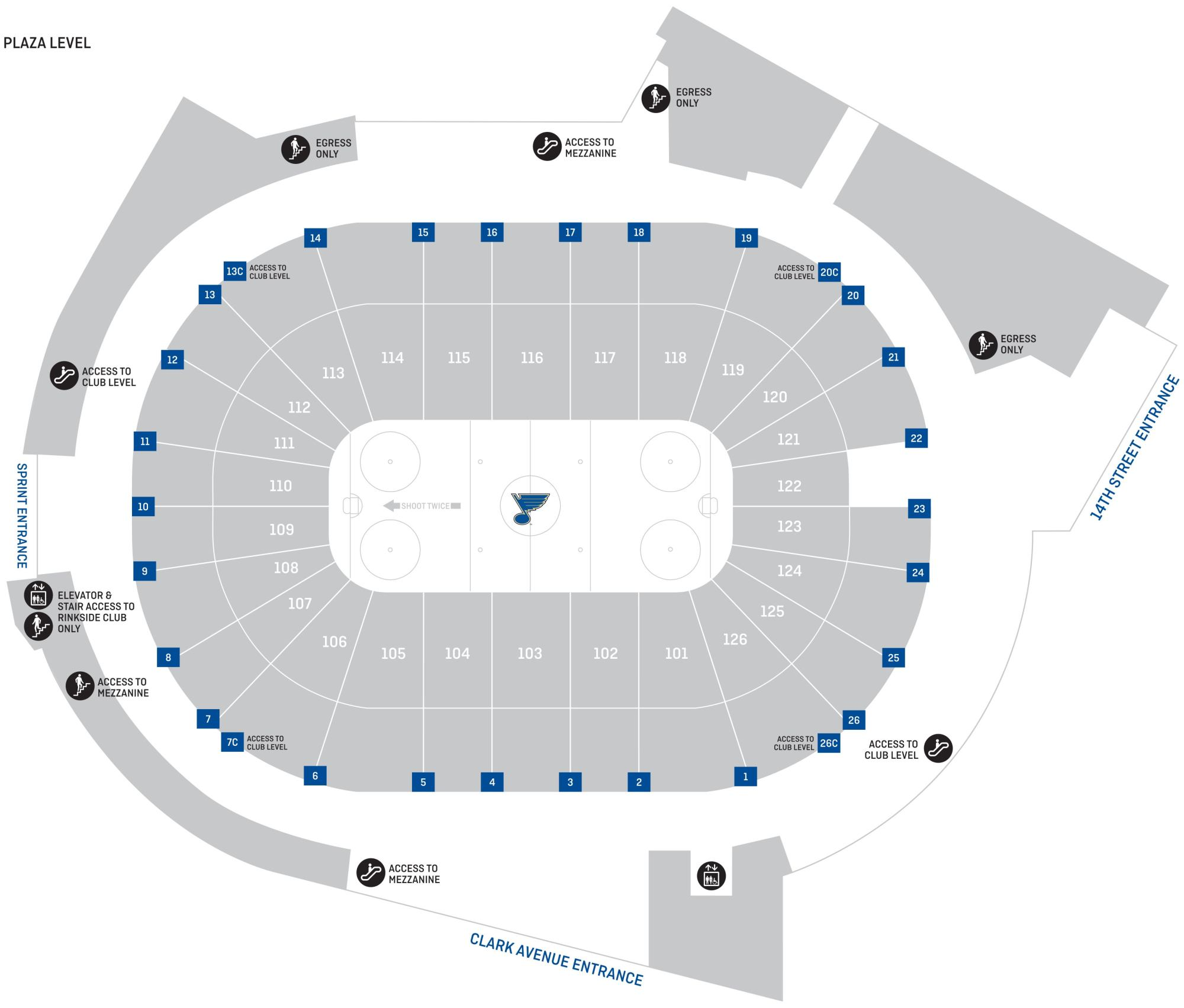 hight resolution of  plaza level portal seat map