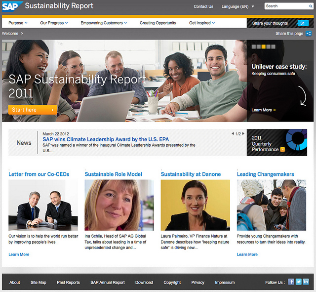 SAP 2011 Sustainability Report
