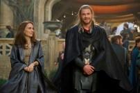 """Marvel's Thor: The Dark World""Jane Foster (Natalie Portman) and Thor (Chris Hemsworth)Ph: Jay Maidment© 2013 MVLFFLLC. TM & © 2013 Marvel. All Rights Reserved."