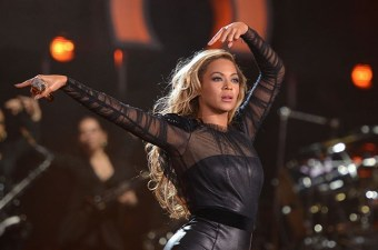 Co-founder of Chime for Change, Beyonce, performing at the concert held in Twickenham Stadium.