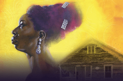 Portrait of Nina Simone for the National Trust's social impact campaign to preserve her childhood home