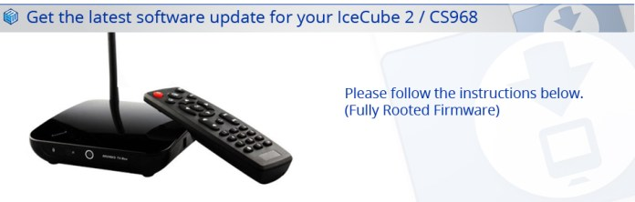 Latest IceCube 2 CS968 Firmware
