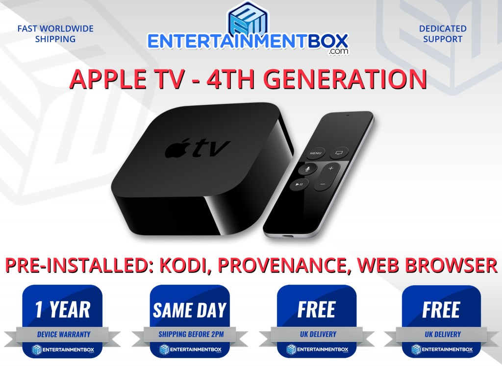 Apple TV 4 Now Released with Kodi Apple TV 4th Gen