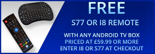 Free S77 or i8 Remote