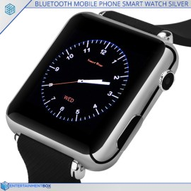Bluetooth Mobile Phone Smart Watch Silver, 32gb Micro SD Slot