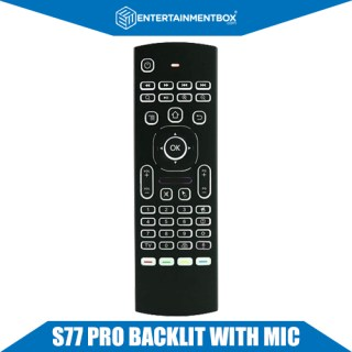 New S77 PRO Remote, Keyboard, Microphone. Voice activated remote for Android box