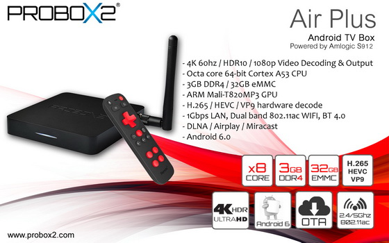 Latest Probox2 Air Plus TV Box Firmware Download Android Marshmallow 6.0
