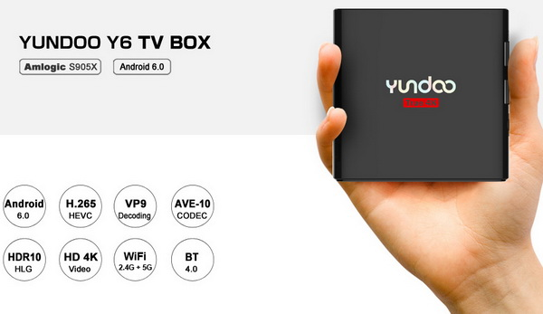 Latest Yundoo Y6 TV Box Firmware Download Android Marshmallow 6.0