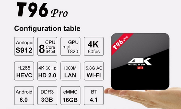 Latest T96 Pro TV Box Android 6.0 Stock Firmware Download