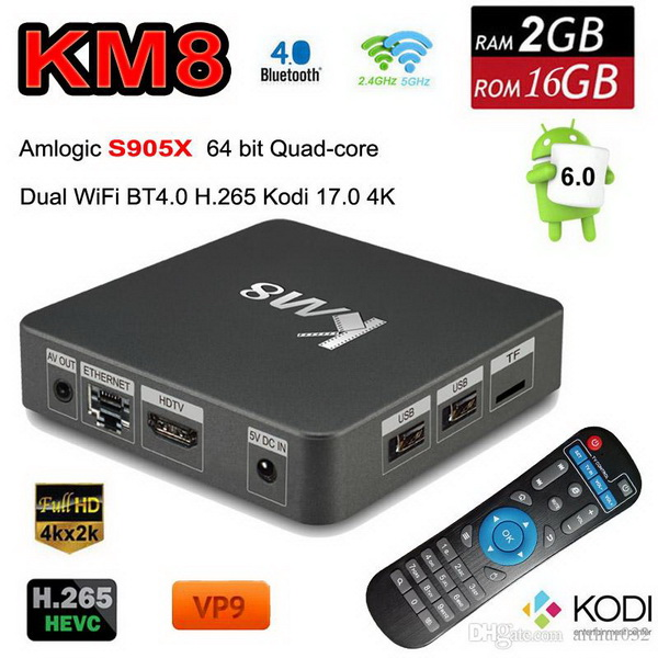 Latest KM8 TV Box Firmware Download Android Marshmallow 6.0