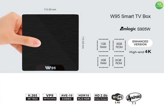 Latest W95 TV Box Firmware Download Android Nougat 7.1