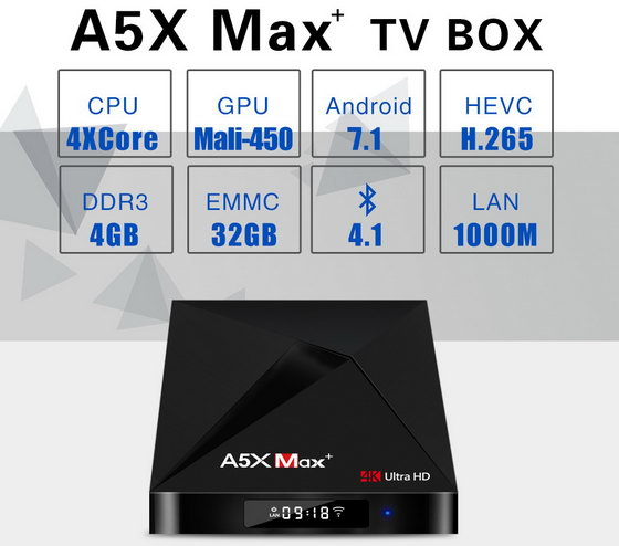 Latest A5X Max+ TV Box Firmware Download Android Nougat 7.1.2